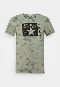 Schott - T-shirt print - kaki - 0