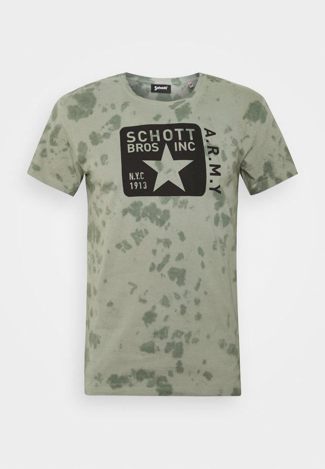 Print T-shirt - kaki