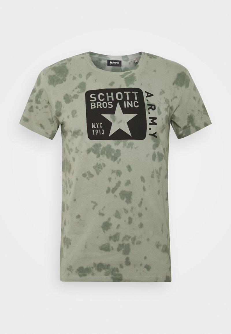 Schott - T-shirt print - kaki