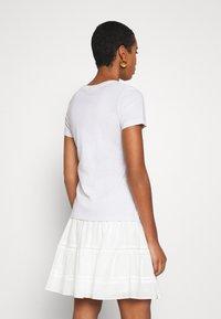 Calvin Klein - 2 PACK - Triko spotiskem - white/mid grey heather - 4