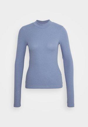 VERA MOCKNECK - Long sleeved top - dusty blue