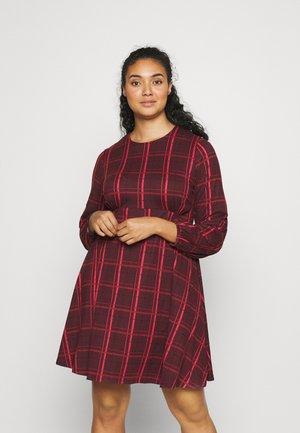 ALINE TEA DRESS - Korte jurk - dark red