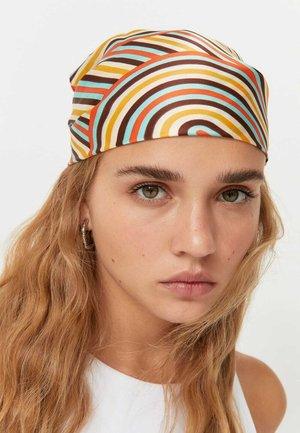 2ER-PACK  IM RETROLOOK MIT SCHMETTERLINGEN UND STREIFE - Headscarf - dark brown
