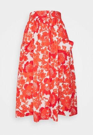 ESTELLE - A-line skirt - coral