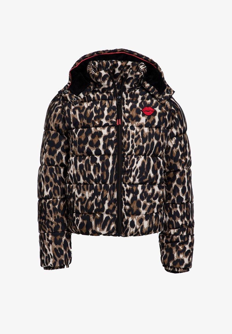 WE Fashion - MET CAPUCHON - Winterjas - brown