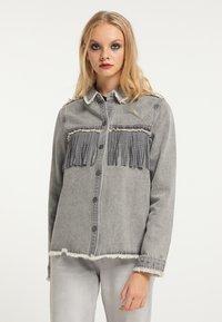 myMo ROCKS - Button-down blouse - grau - 0