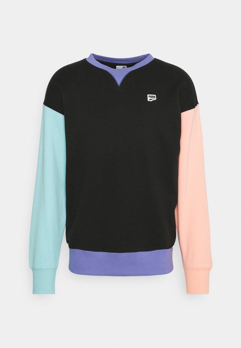 Puma - DOWNTOWN CREW - Sweatshirt - black/multi color
