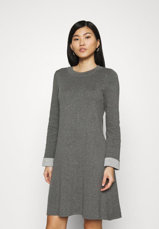 CORE DRESS - Pletené šaty - gunmetal