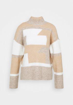 VISARABI - Sweter - natural melange/simply taupe/whispe