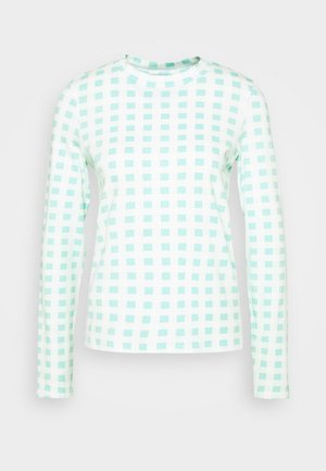 EMELIE MALOU CHECKED LONG SLEEVE - Bluzka z długim rękawem - light green