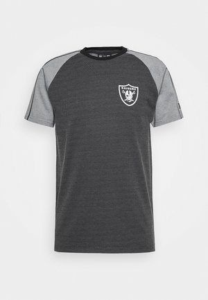 NFL STRIPE RAGLAN TEE OAKLAND RAIDERS - Klubové oblečení - black