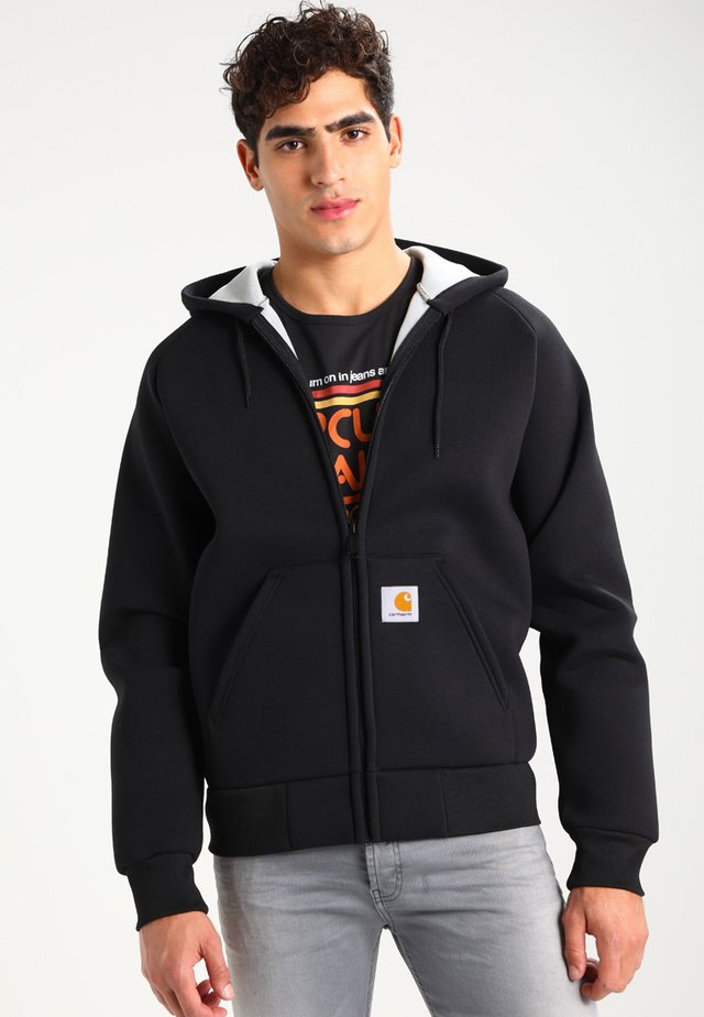 CAR-LUX HOODED - Felpa aperta - black/grey