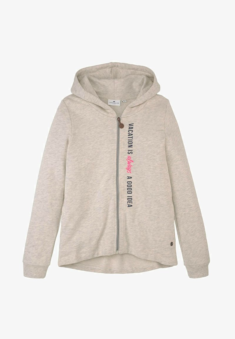 TOM TAILOR - Zip-up hoodie - kids offwhite melange