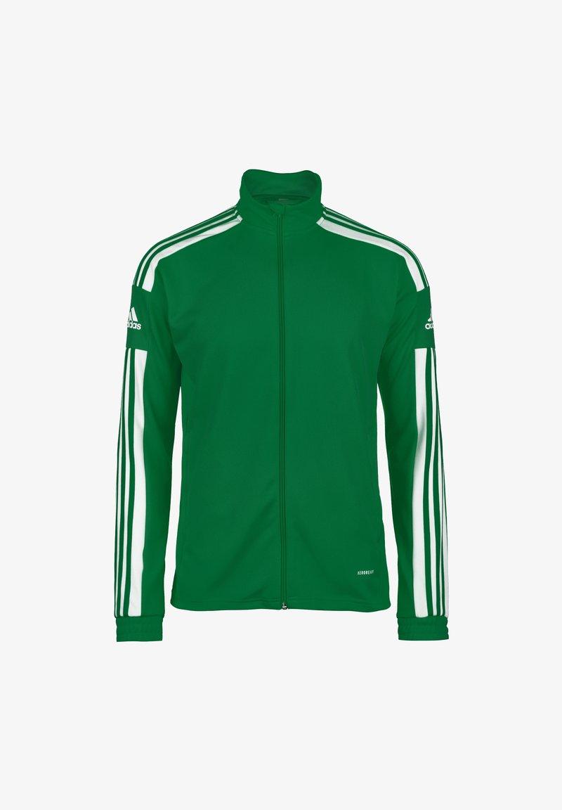 adidas Performance - Felpa con zip - team green / white