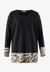 Alba Moda - Sweatshirt - schwarz beige braun off white - 1