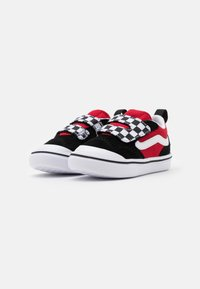 Vans - COMFYCUSH NEW SKOOL - Baskets basses - black/red - 1