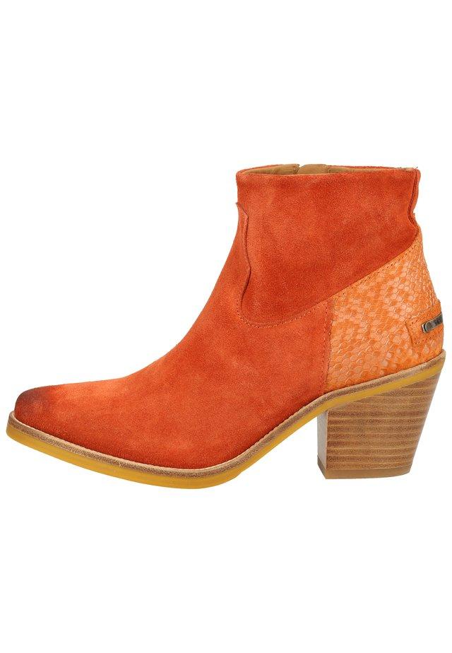 SHABBIES AMSTERDAM STIEFELETTE - Korte laarzen - brick brown 3349