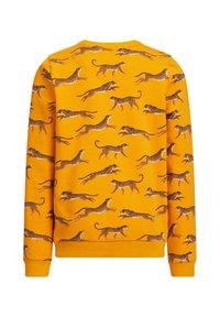 WE Fashion - MET LUIPAARDPRINT - Sweater - ochre yellow - 1