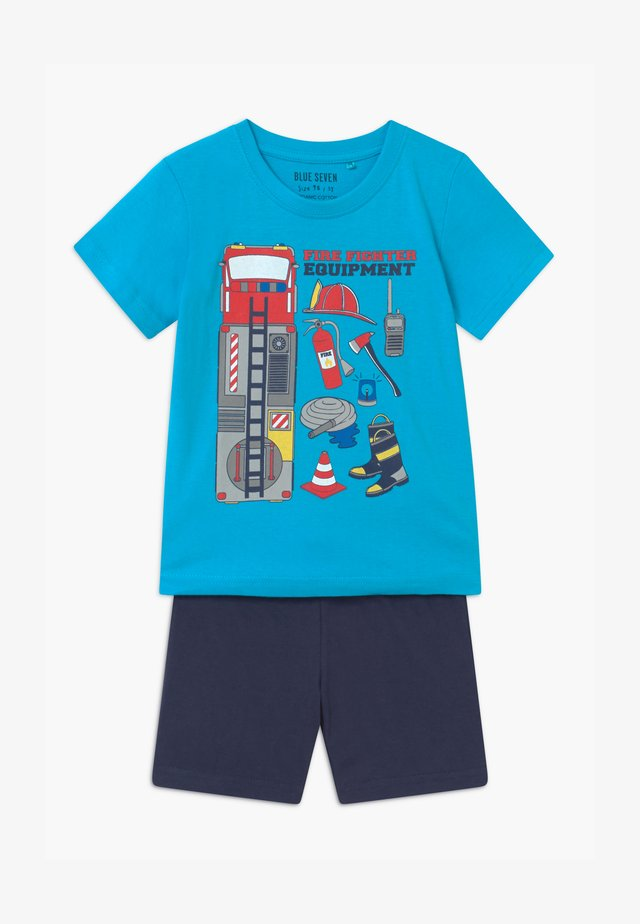 SMALL BOYS FIRETRUCK SET - Pantaloni sportivi - türkis