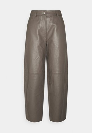 ASTON - Leather trousers - walnut