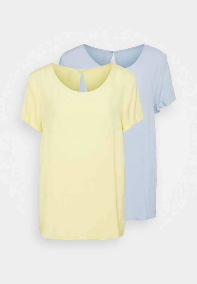 ONLFIRST ONE LIFE SOLID 2 PACK - T-shirt basic - blue/pineapple
