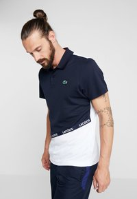 Lacoste Sport - TENNIS - Sports shirt - navy blue/white/ red - 0