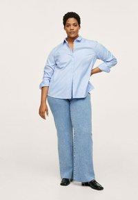 Mango - Button-down blouse - hemelsblauw - 1