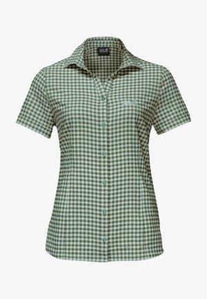 KEPLER - Button-down blouse - delta green checks