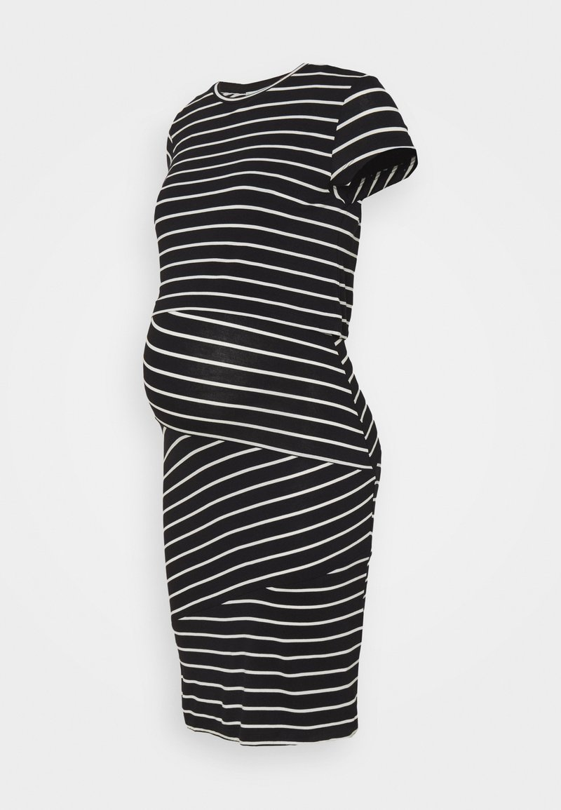 Anna Field MAMA - Nursing Shift dress - Shift dress - black/off-white