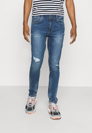 ONSWARP LIFE DAMAGE - Slim fit jeans - blue denim