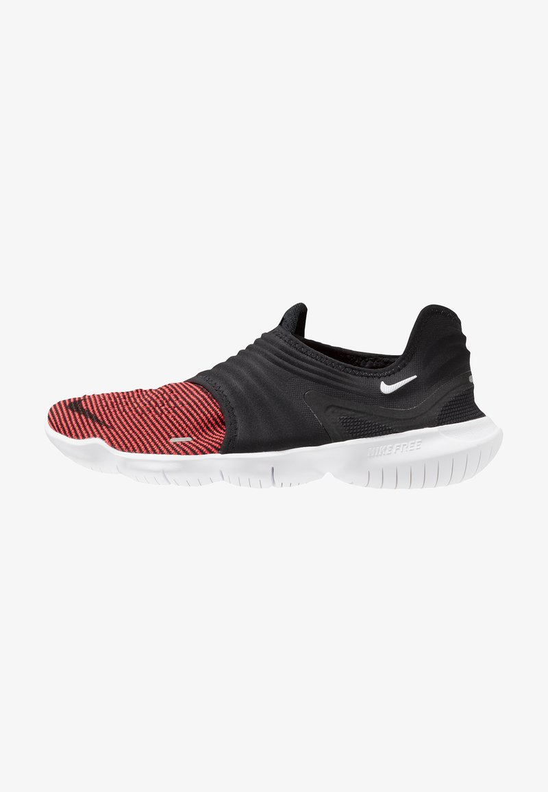 Nike Performance - FREE RN FLYKNIT 3.0 - Minimalist running shoes - black/bright crimson/white