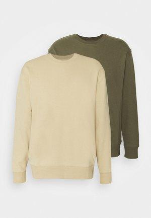 CREW 2 PACK - Sweatshirt - olive
