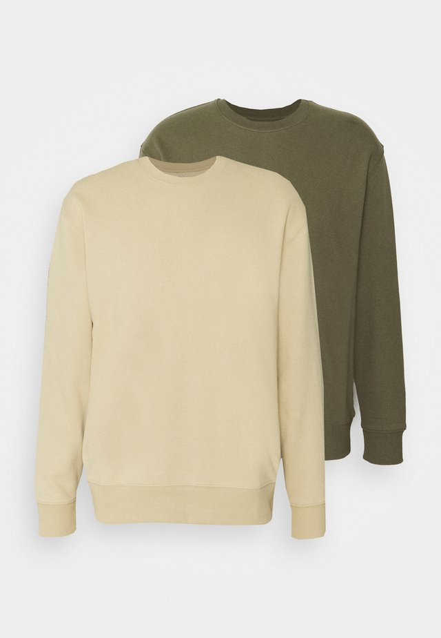 CREW 2 PACK - Sweater - olive