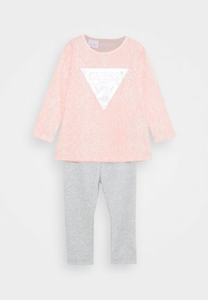 SHIRT AND LEGGINGS BABY SET - Long sleeved top - light pink