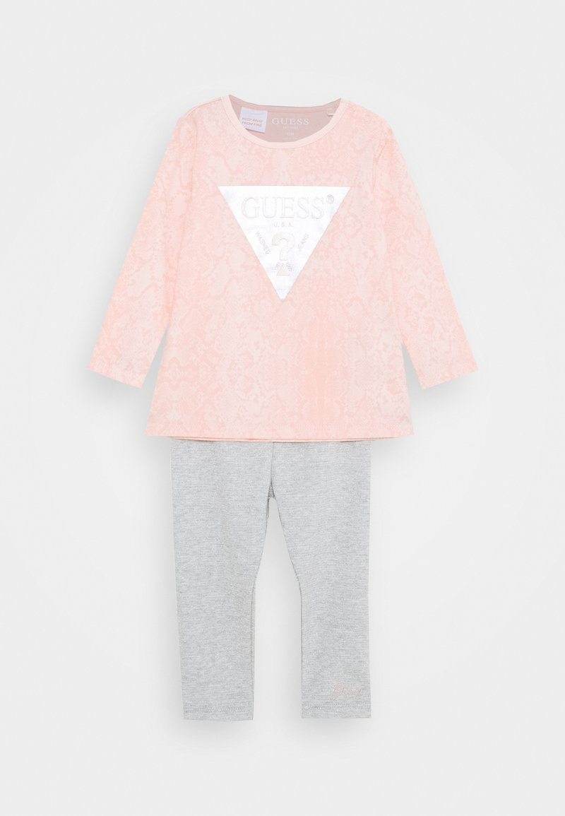 Guess - SHIRT AND LEGGINGS BABY SET - Long sleeved top - light pink