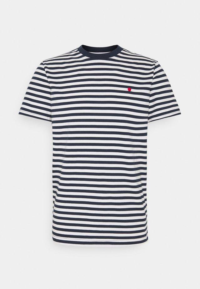 JJRDD STRIPE TEE CREW NECK - T-shirt imprimé - navy blazer