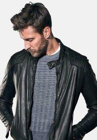 Emilio Adani - Leather jacket - schwarz - 3