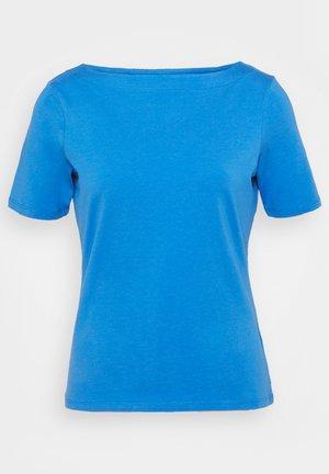 BOAT NECK TEE - T-Shirt basic - mid blue