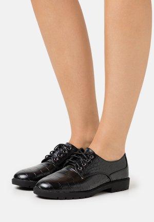 GALVIN - Šněrovací boty - black