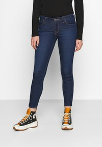 Lee - SCARLETT CROPPED - Jeans Skinny Fit - dark clement - 0