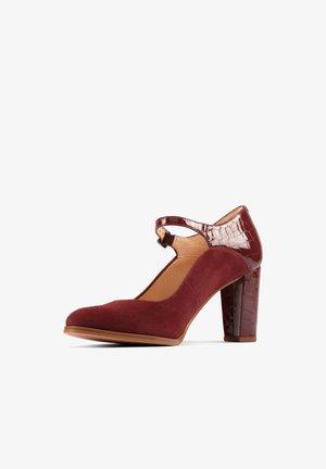 KAYLIN  - Classic heels - weinrotes leder