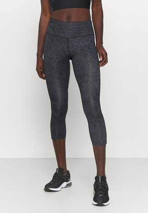 RUN FAST CROP - Legginsy - black