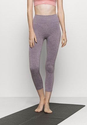HIGH WAIST CONTRAST SEAMLESS - Leggings - purple