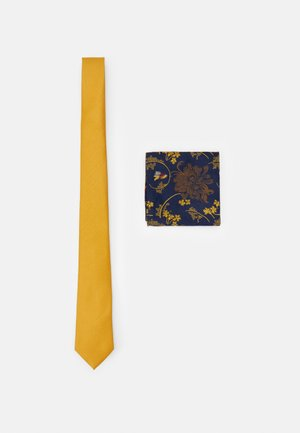 FLORAL SET - Kravata - yellow