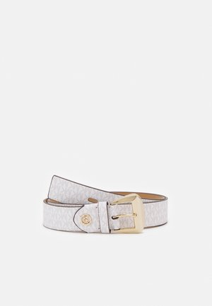 LOGO BELT - Cintura - optic white/luggage