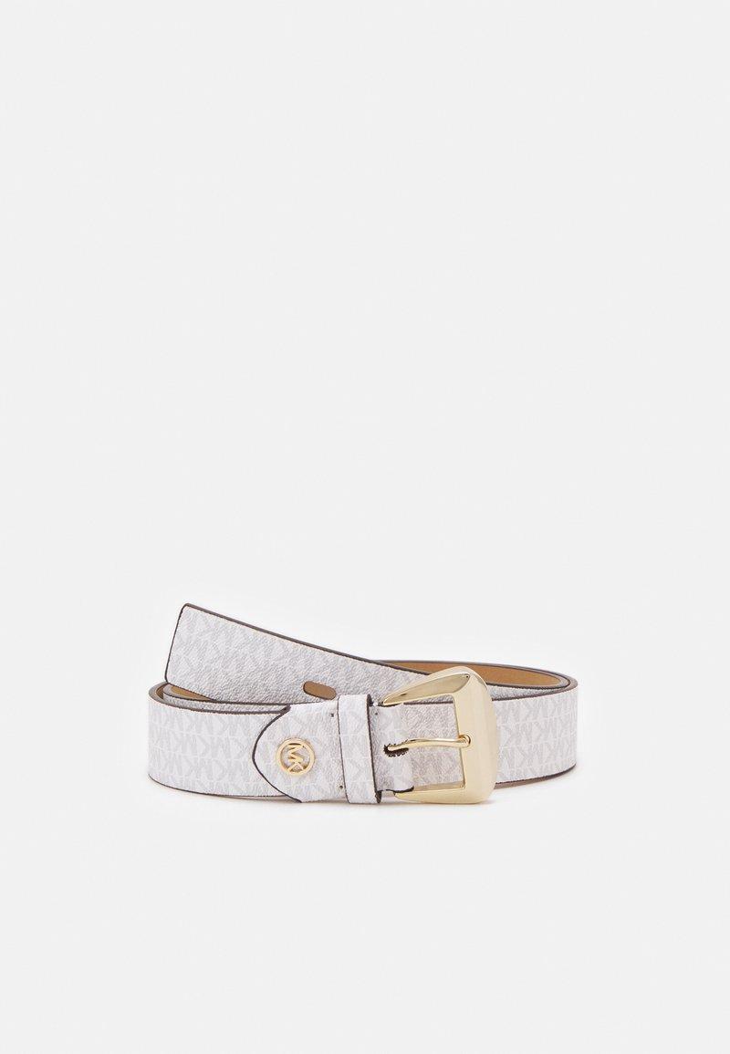 MICHAEL Michael Kors - LOGO BELT - Belt - optic white/luggage