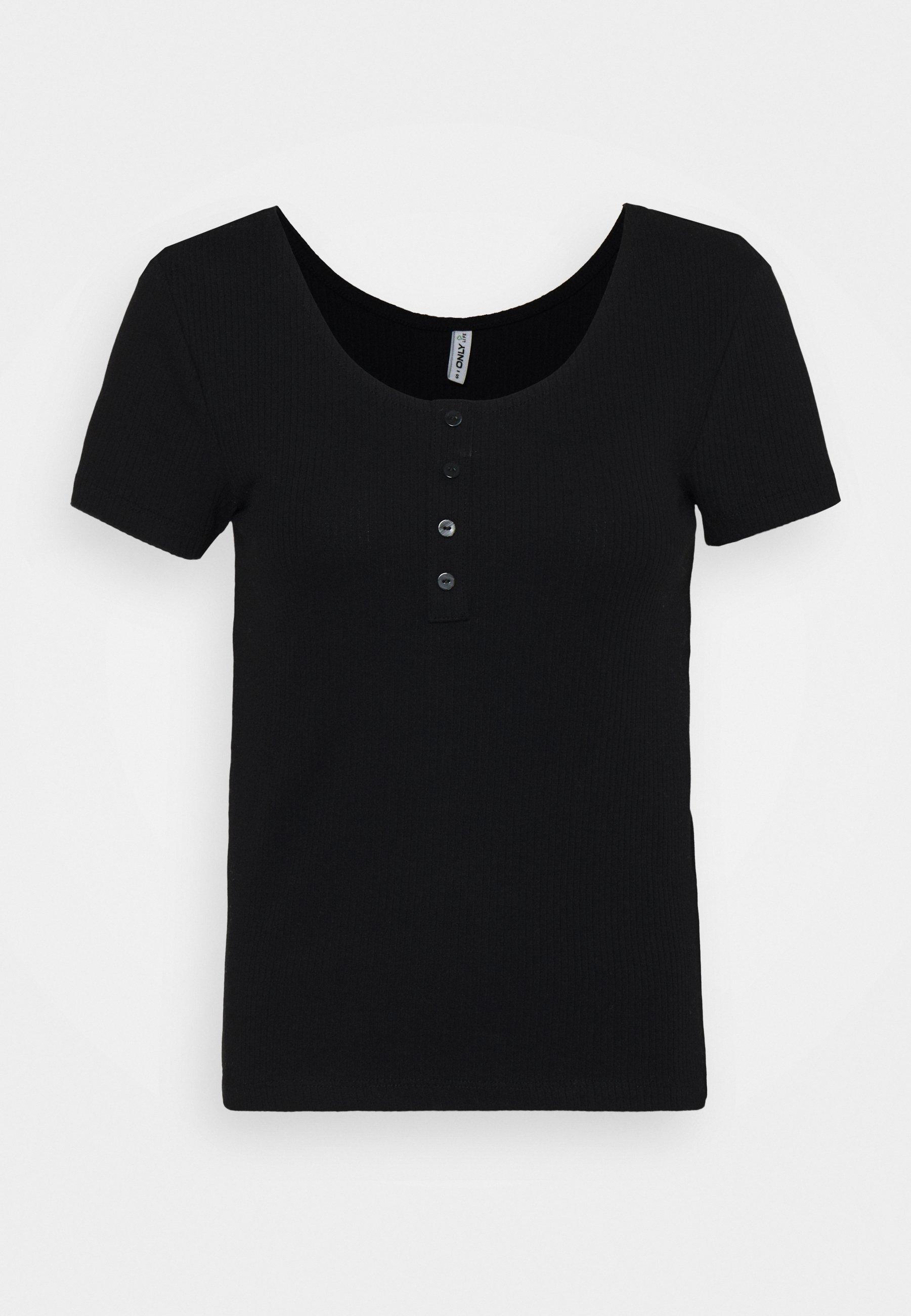 Women ONLSIMPLE LIFE BUTTON - Basic T-shirt