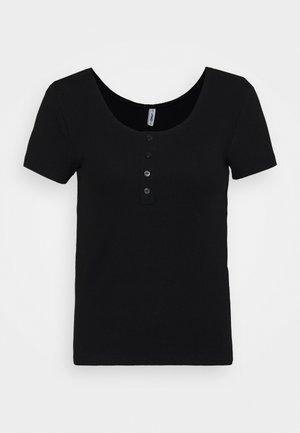 ONLSIMPLE LIFE BUTTON - T-shirt basic - black