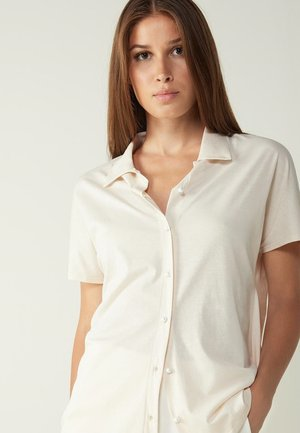 Button-down blouse - natural