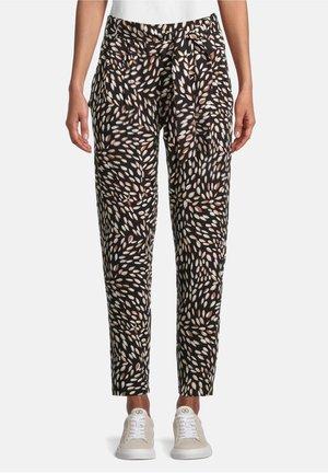 Trousers - black/camel